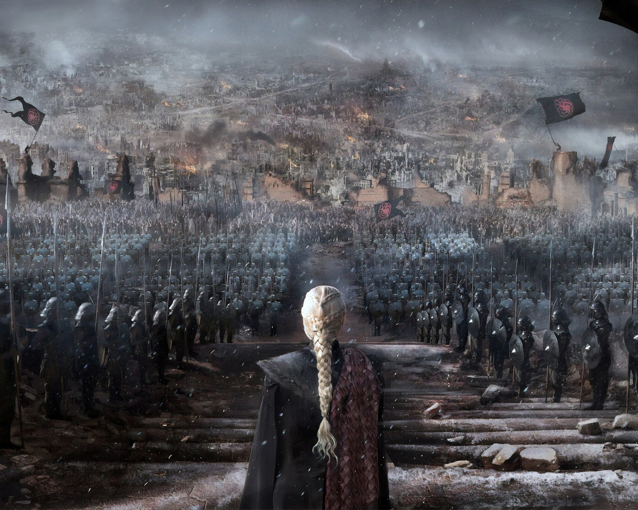 Daenerys Targaryen, Queen, Game Of Thrones, Tv Series, - Daenerys Targaryen In Throne - HD Wallpaper