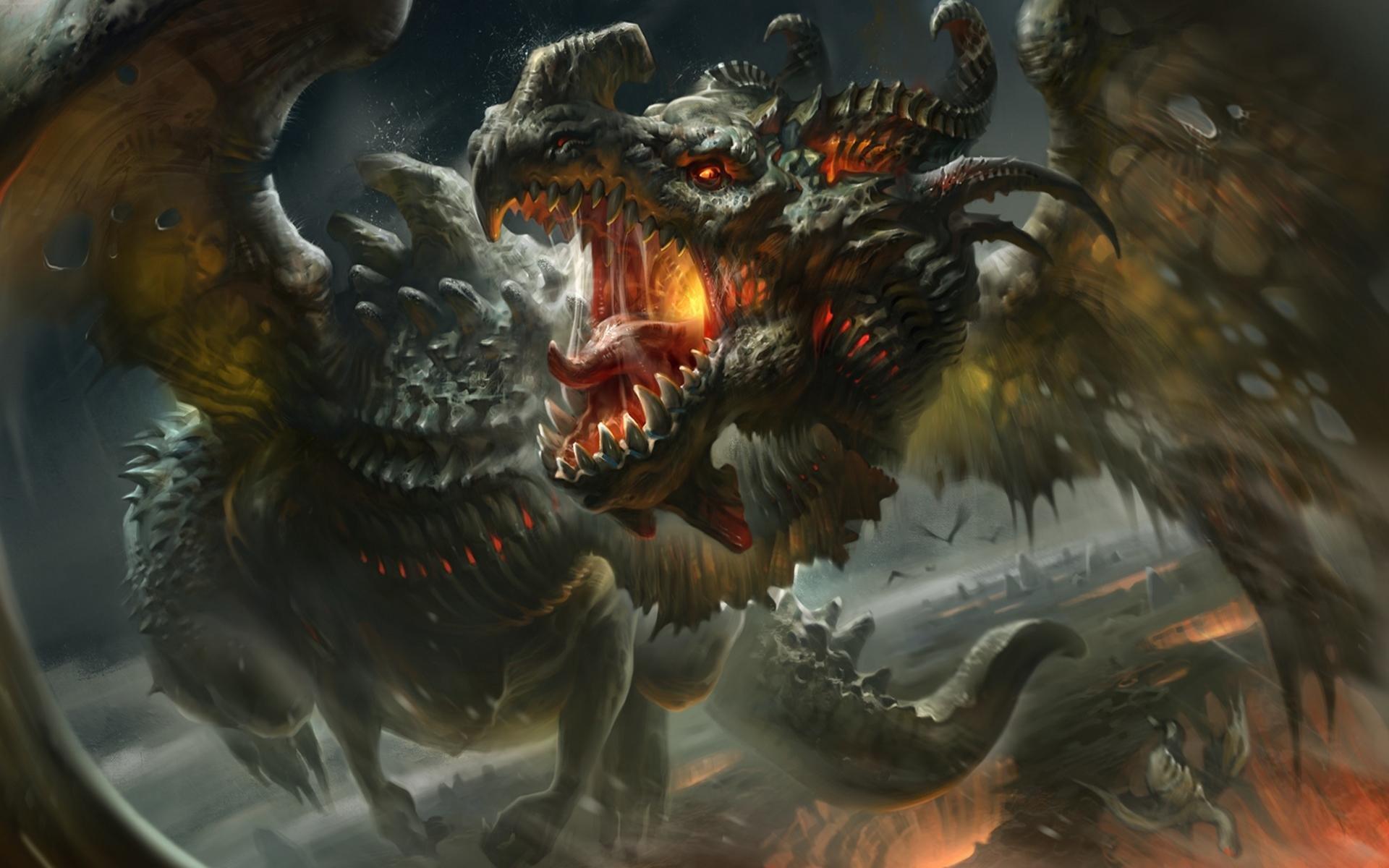 High Resolution Dragon Hd Wallpaper Id Dragon Fangs 1920x1200 Wallpaper Teahub Io