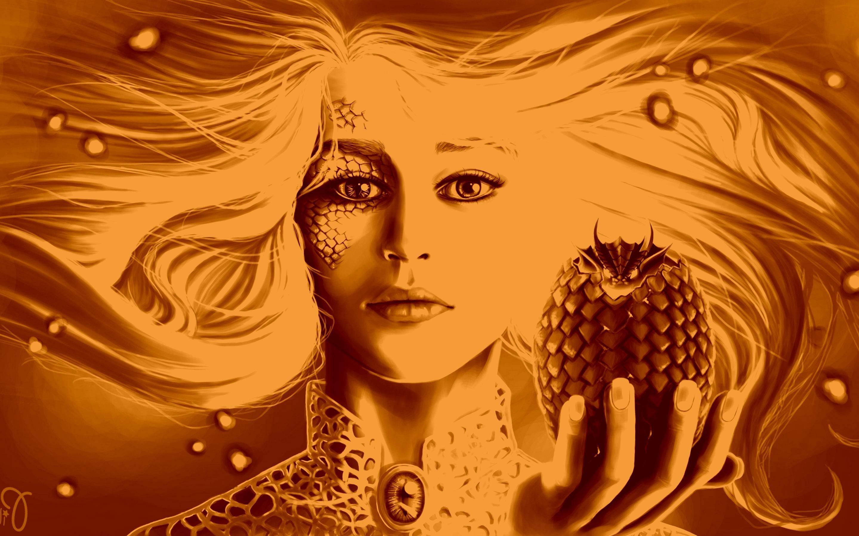 Daenerys Targaryen, Game Of Thrones, Dragon, Artwork - Dragon Of Game Of Throne Hd - HD Wallpaper