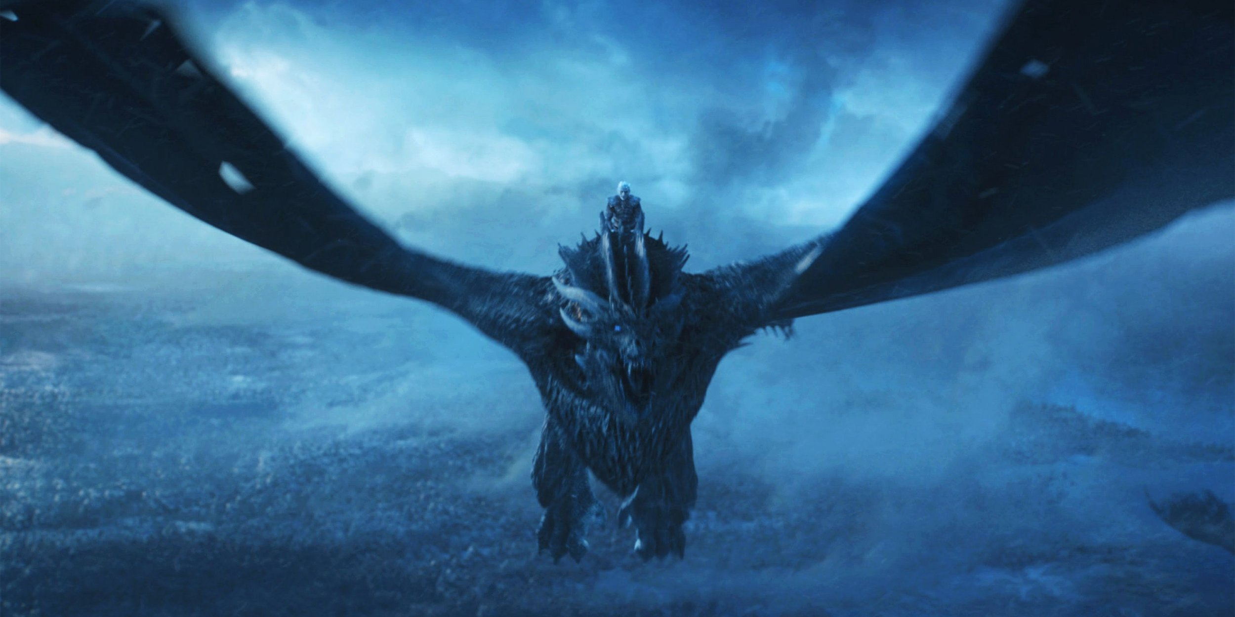 Hbo Game Of Thrones Night King Ice Dragon - Game Of Thrones Night King Dragon - HD Wallpaper