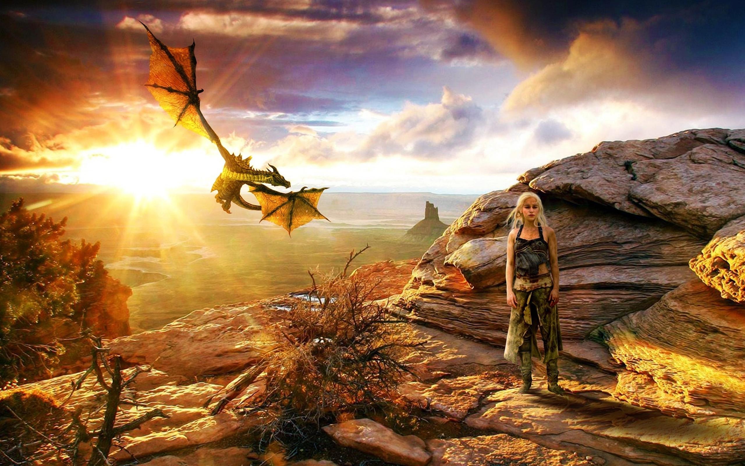 Game Of Thrones Season Daenerys Targaryen Wallpaper - Hd Game Of Thrones Dragons - HD Wallpaper