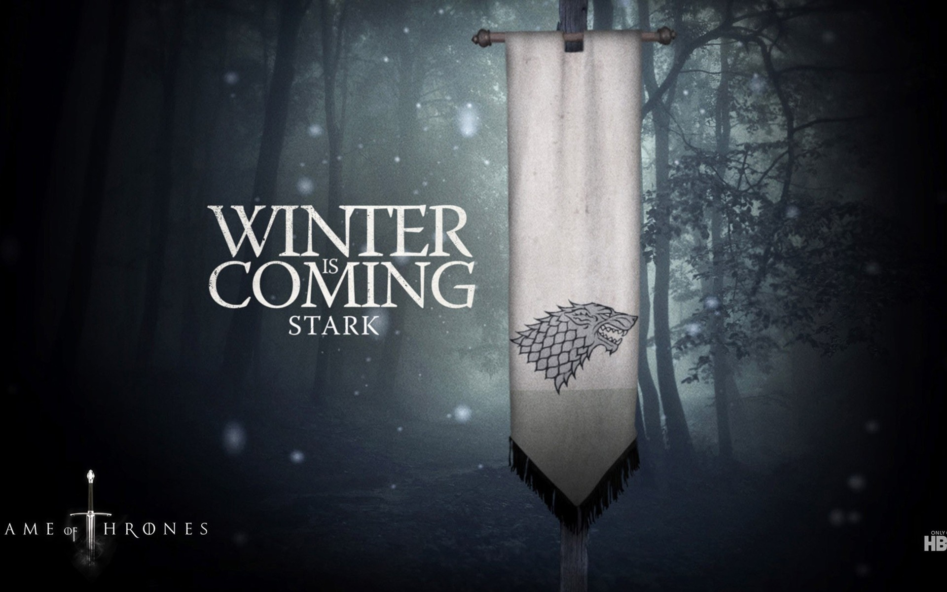 Tv Series Dark Winter Illuminated Game Of Thrones - Got Season Winter Is Coming - HD Wallpaper