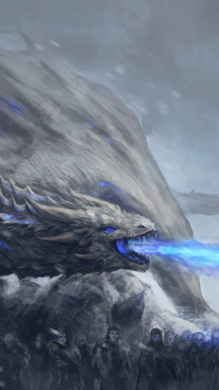 Game Of Thrones Iphone Wallpaper - Game Of Thrones Dragon Wight - HD Wallpaper
