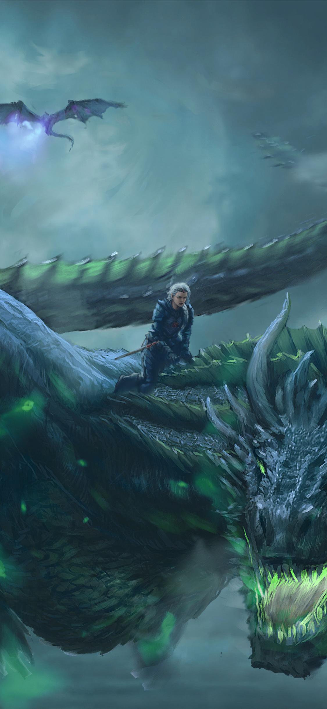 Daenerys Targaryen, Dragon Ride, Game Of Thrones, Digital - Game Of Thrones Dragon Armor - HD Wallpaper