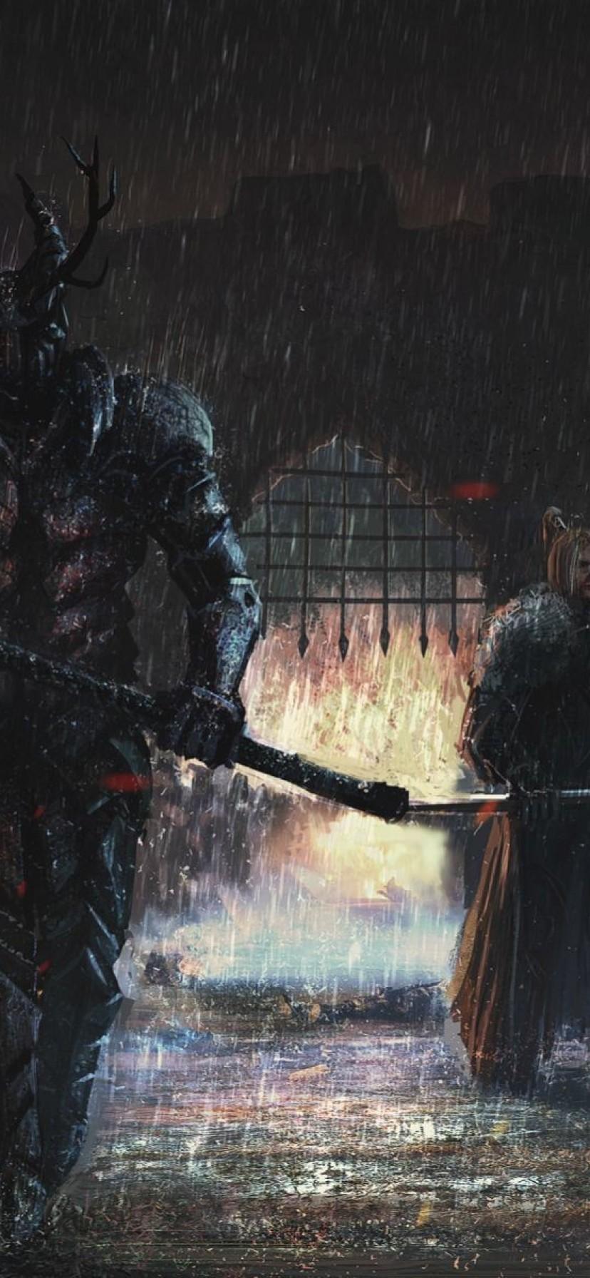 Iphone Xr Game Of Thrones Wallpaper - Game Of Thrones Robert Baratheon Hammer - HD Wallpaper
