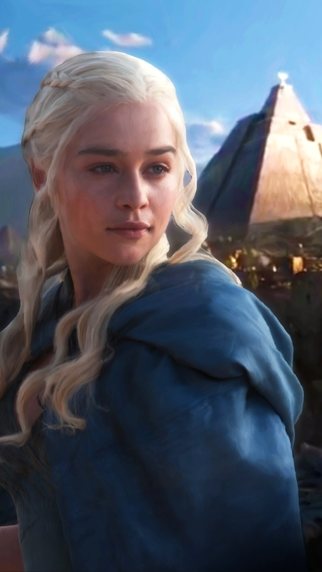 Daenerys Targaryen Fan Art For 640 X 1136 Iphone 5 - Game Of Thrones Wallpaper 1920x1080 Daenerys - HD Wallpaper