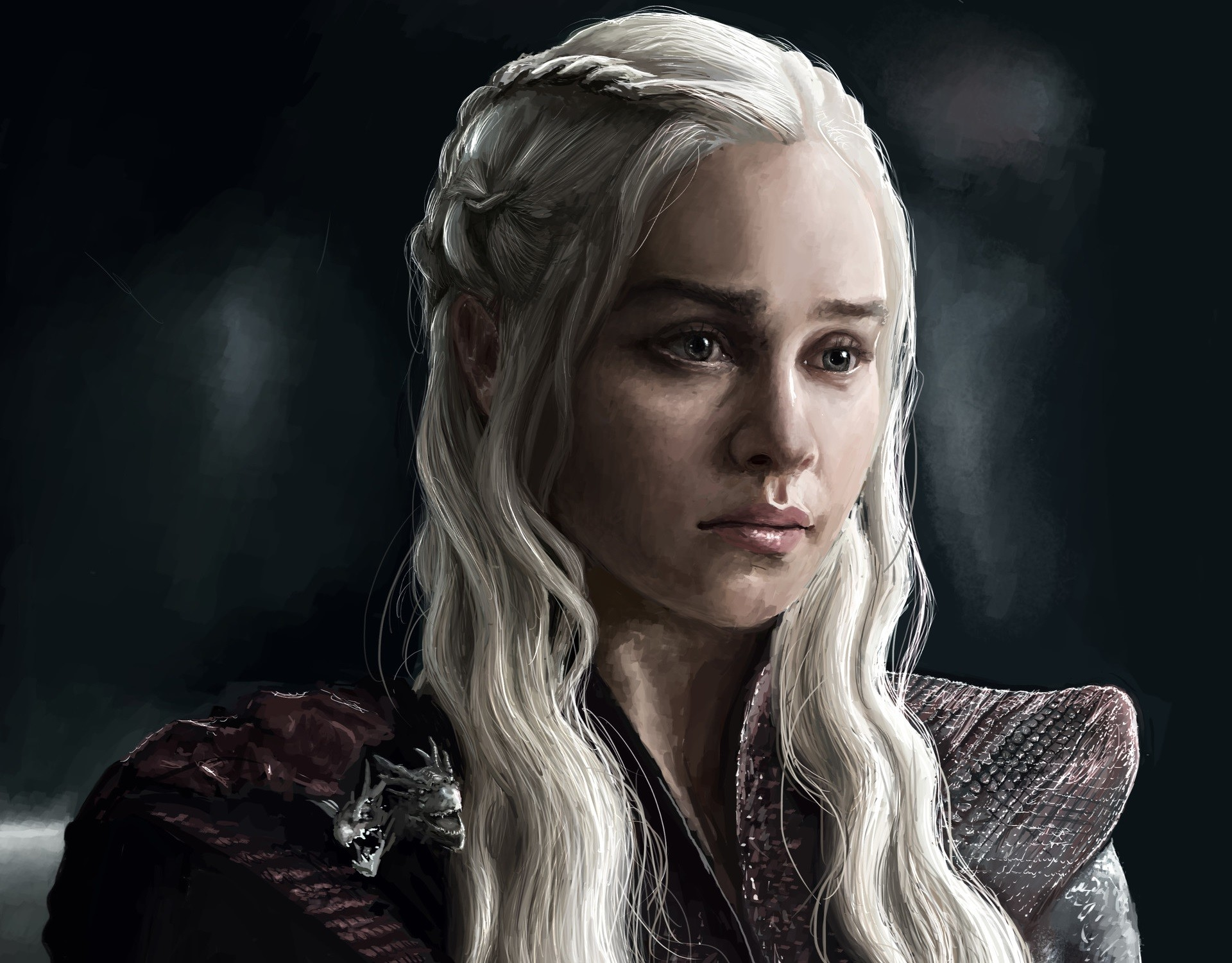 Tv Show Game Of Thrones White Hair Face Daenerys Targaryen - Game Of Thrones Daenerys Hd - HD Wallpaper