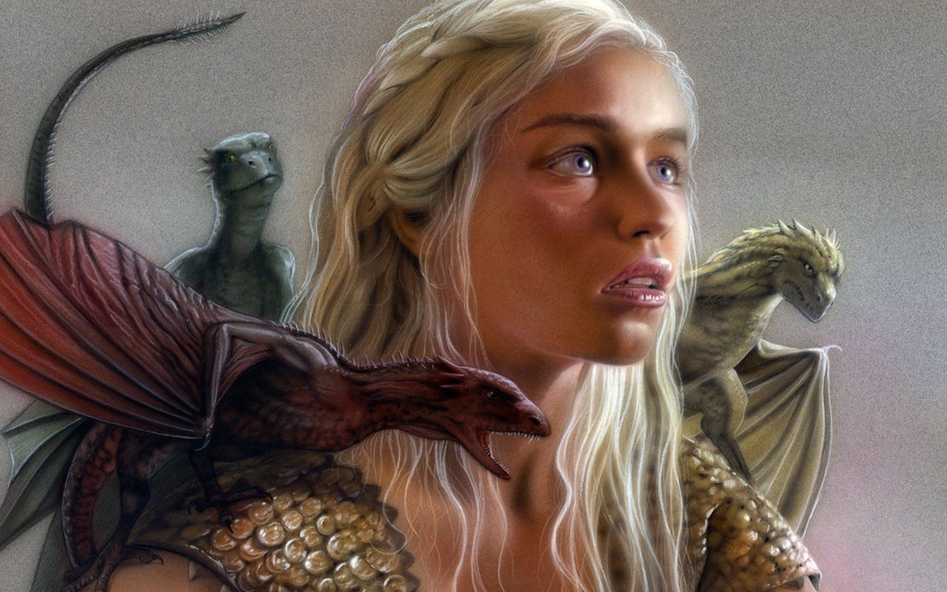 Game Of Thrones Game Of Thrones Daenerys Targaryen - Game Of Thrones Daenerys With Dragons - HD Wallpaper