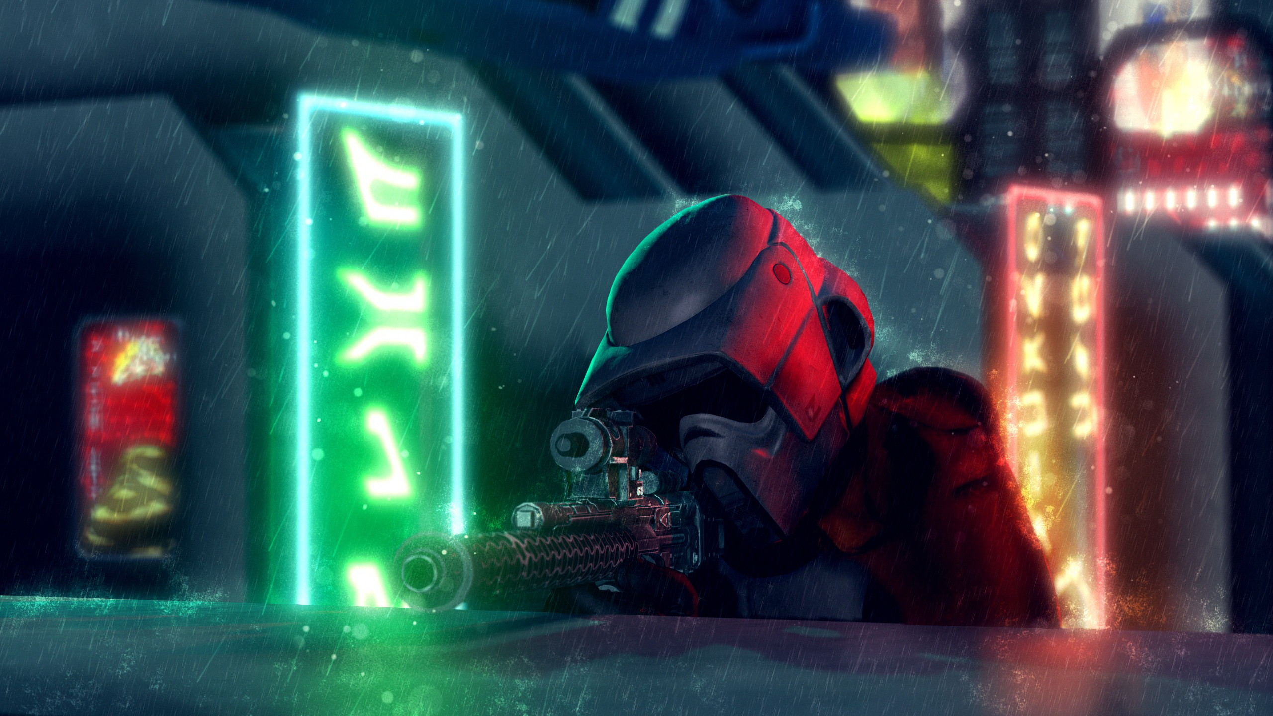 2560x1440 Sci Fi Star Wars Neon Art 2560x1440 Wallpaper Teahub Io