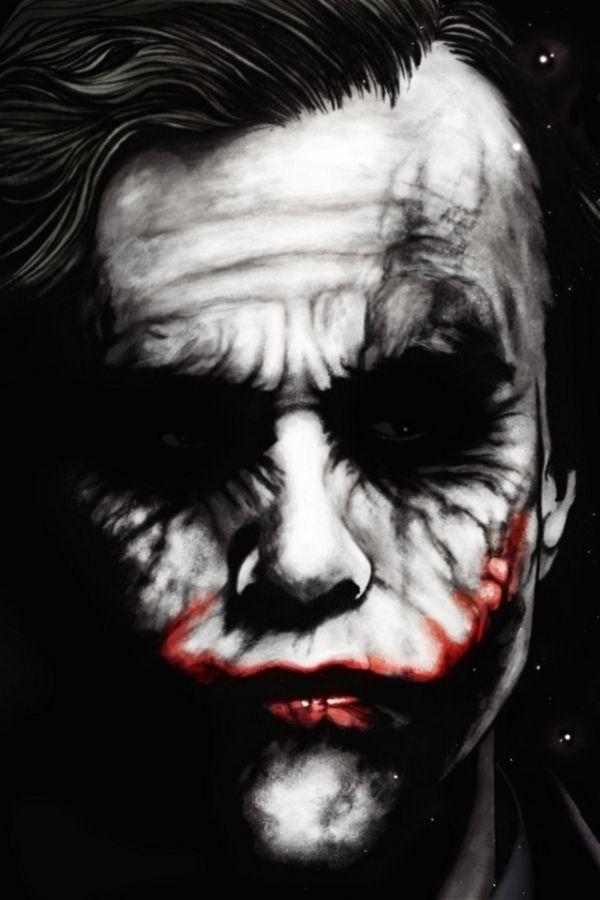 Heath Ledger Joker Wallpaper Hd 600x900 Wallpaper Teahub Io