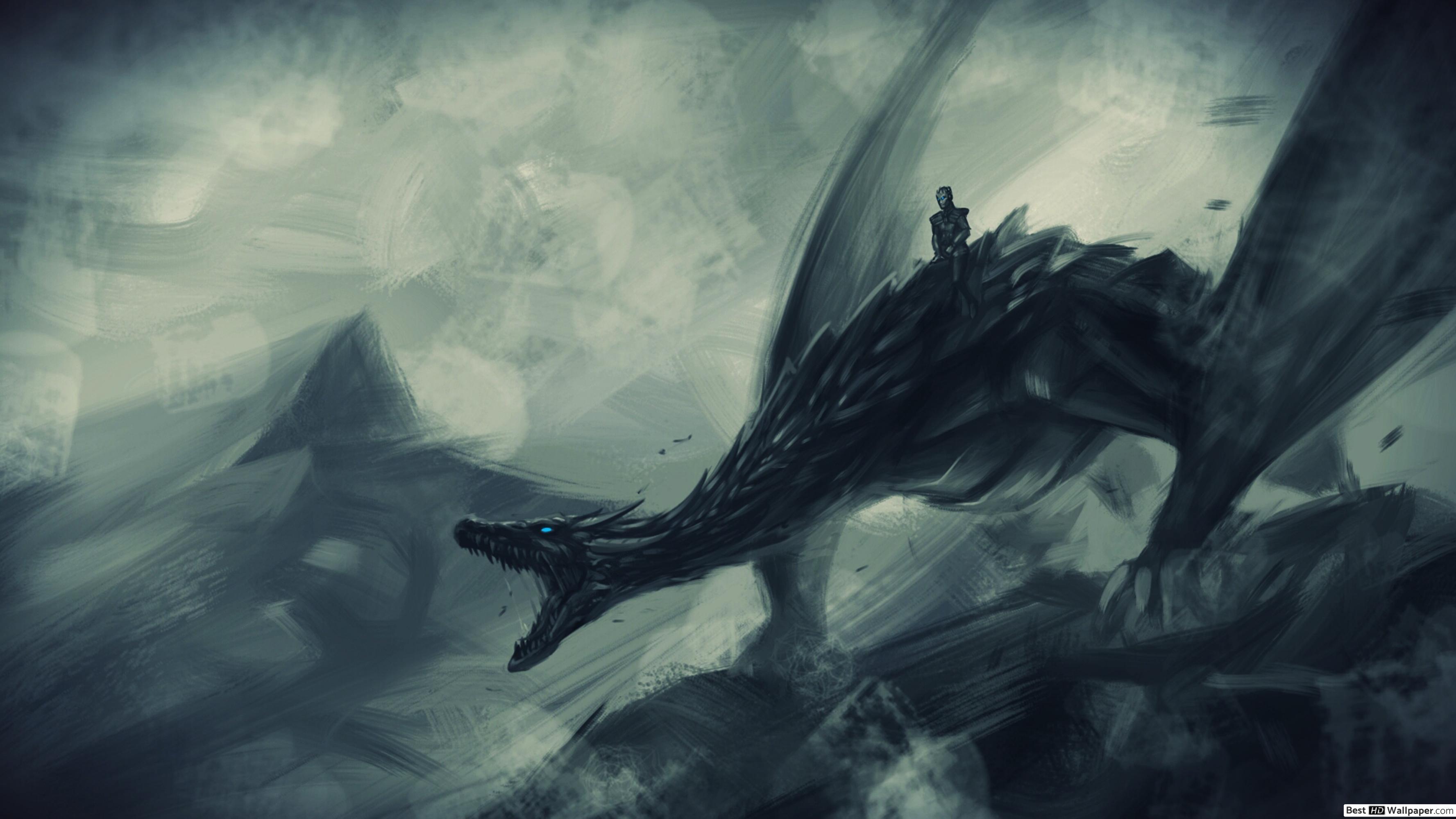 Night King On Ice Dragon - HD Wallpaper