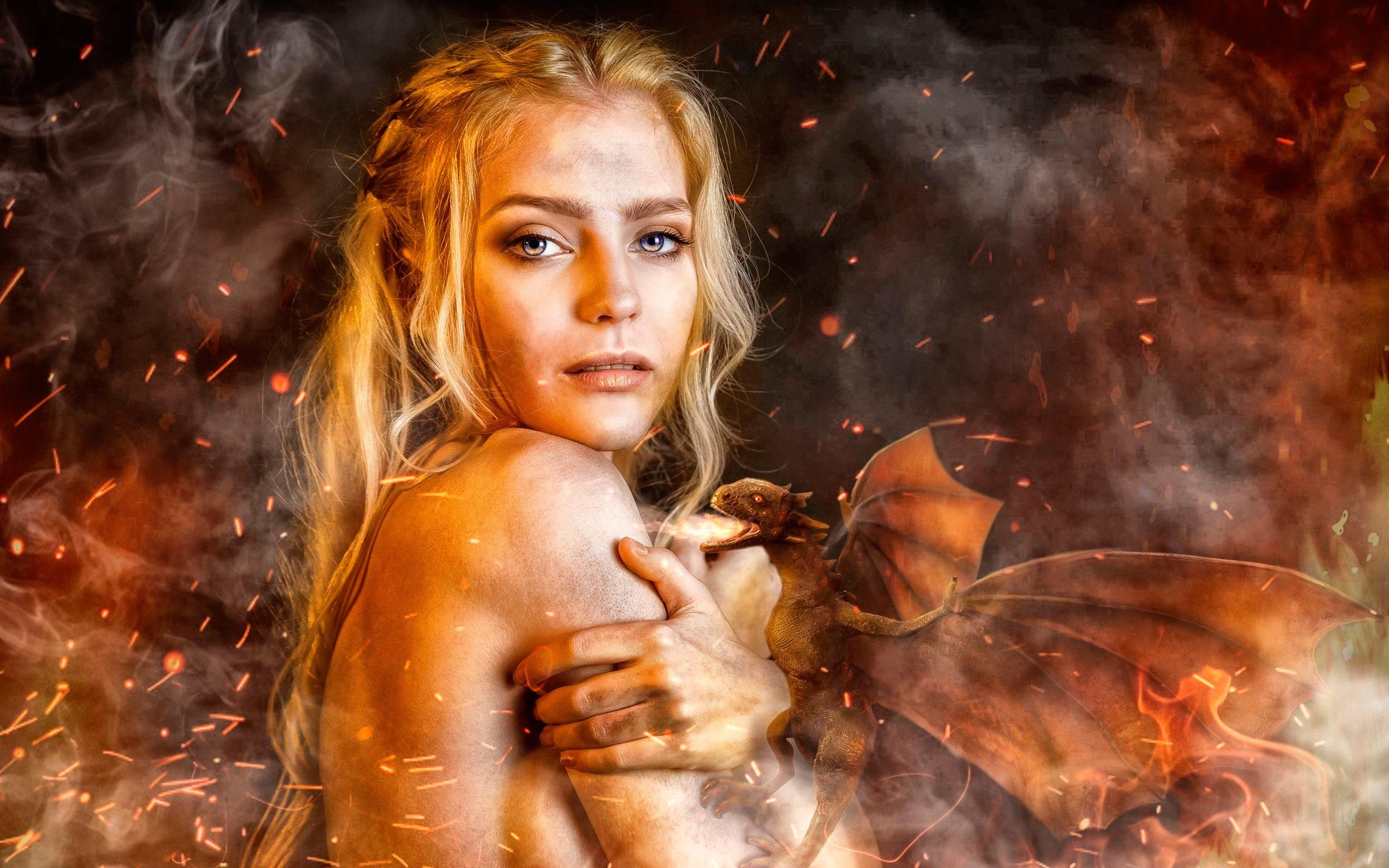 Wallpaper Game Of Thrones, Daenerys Targaryen, Cosplay - Art Game Of Thrones Daenerys Targaryen - HD Wallpaper