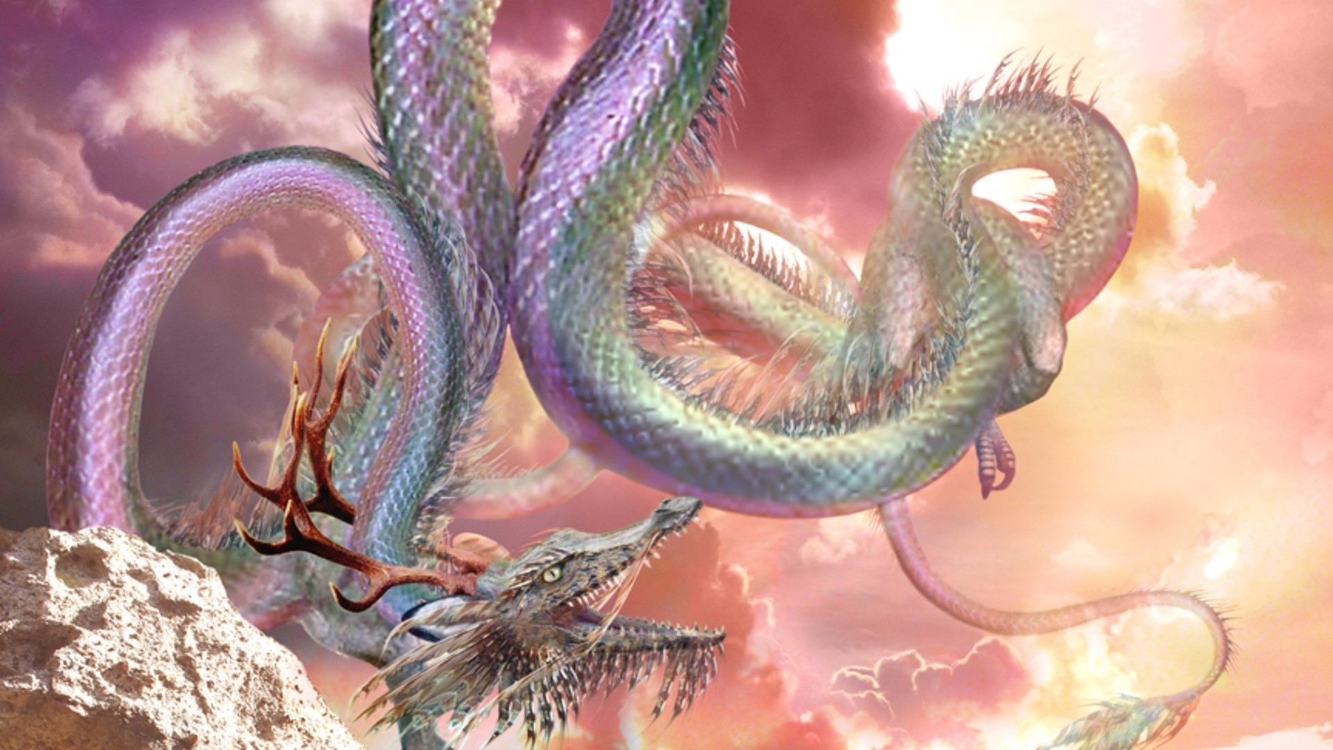 1920x1080, Chinese Dragon Wallpapers Awesome Mighty - Chinese Dragon Wallpaper Anime - HD Wallpaper