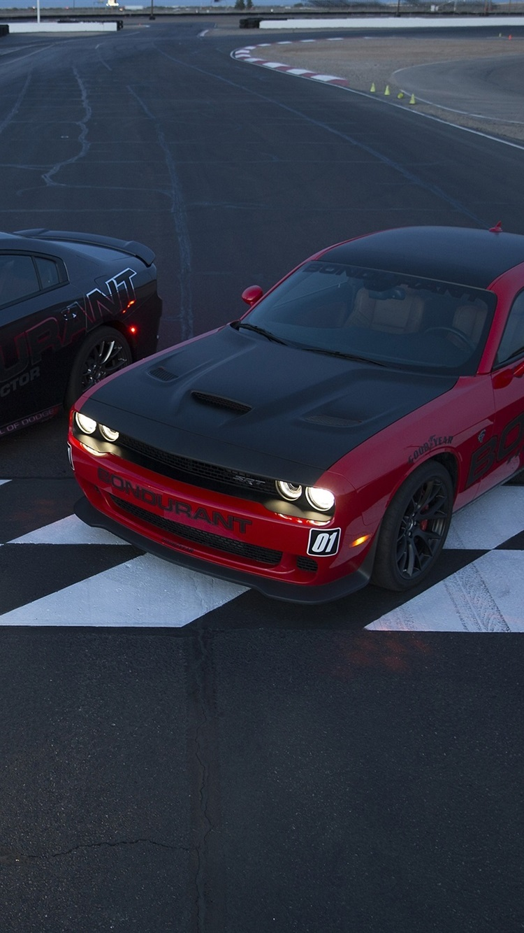 Iphone Wallpaper Dodge Challenger Srt Cars Two Supercars Gran Turismo Sport Hellcat 750x1334 Wallpaper Teahub Io