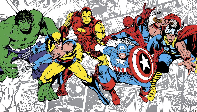 Classic Marvel Comics - HD Wallpaper