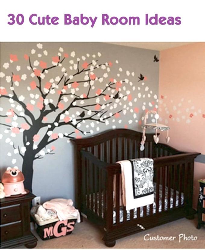 A Cute Baby Room Ideas Nursery Decor For Boy Girl And - Baby Nursery Tree - HD Wallpaper