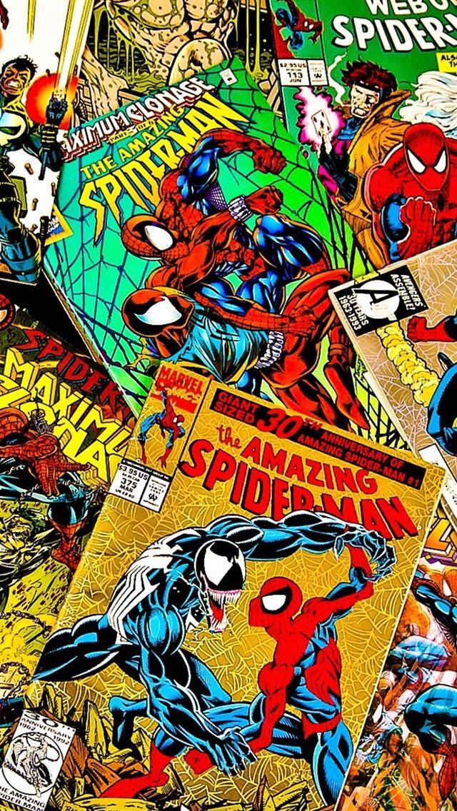 Iphone Wallpaper Marvel Comics Magazines Covers Piles Of Comic Books 640x1136 Wallpaper Teahub Io