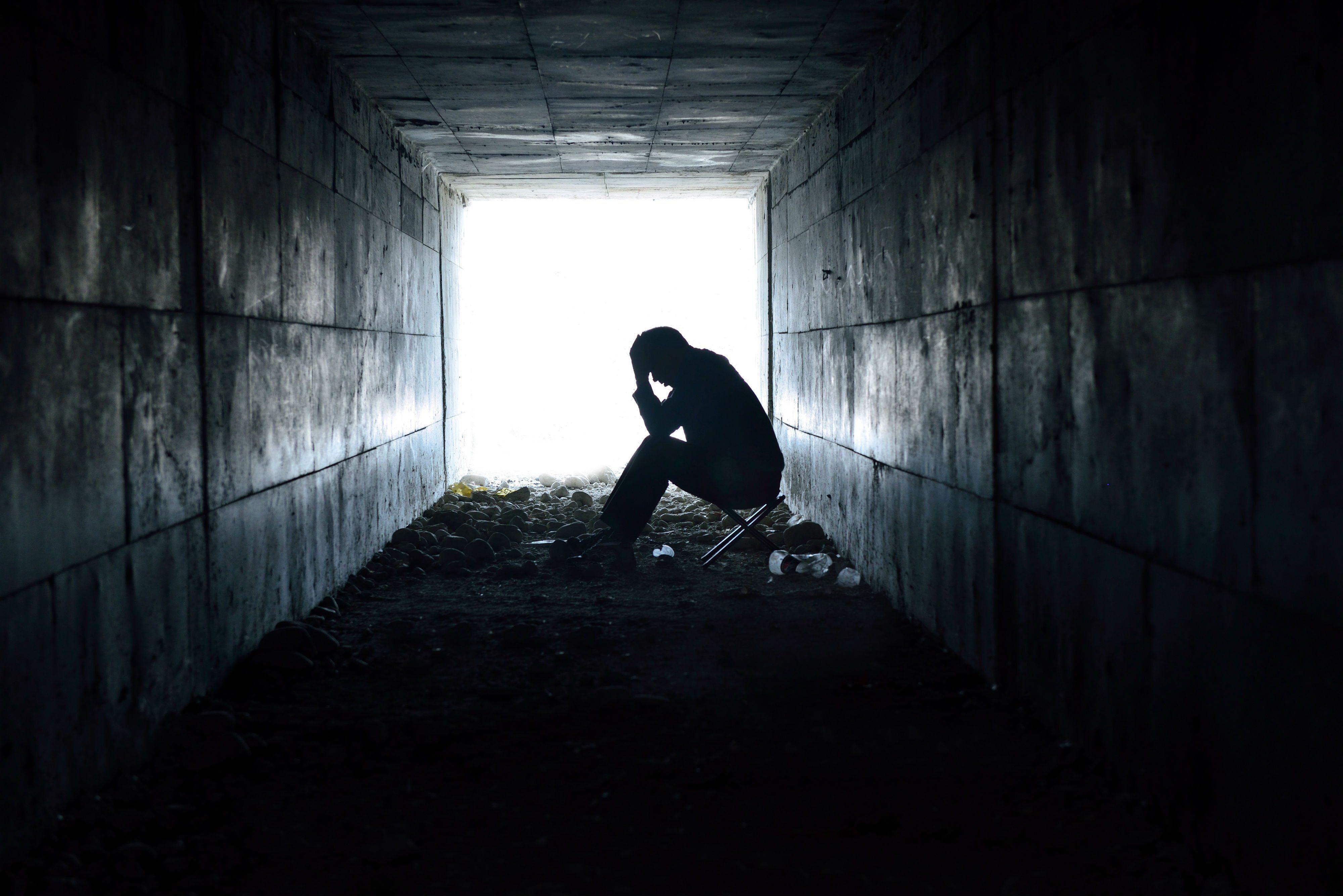 Depression Sad Mood Sorrow Dark People Wallpaper - Depressed Man - HD Wallpaper