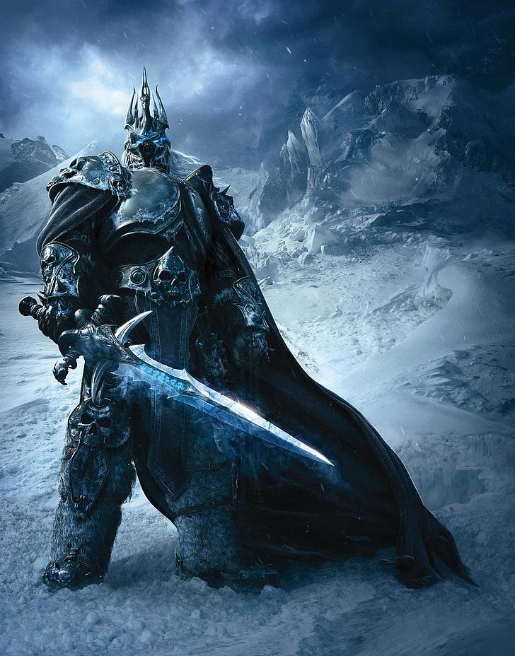World Of Warcraft Arthas Lich King Wallpaper, World - Night King Vs Lich King - HD Wallpaper