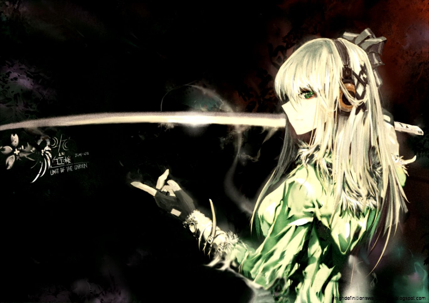 Sword Katana Anime Girl - HD Wallpaper
