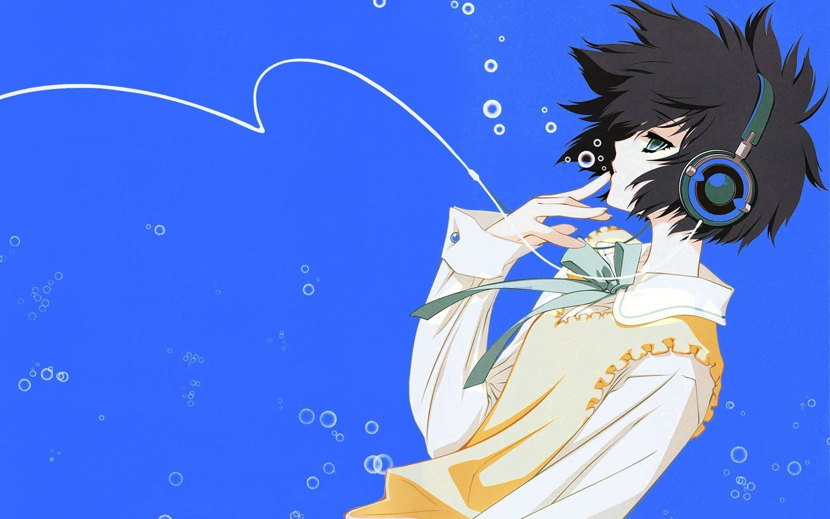 Anime Headphones Wallpapers Hd Widescreen Photo Anime Character With Headphones 1680x1050 Wallpaper Teahub Io