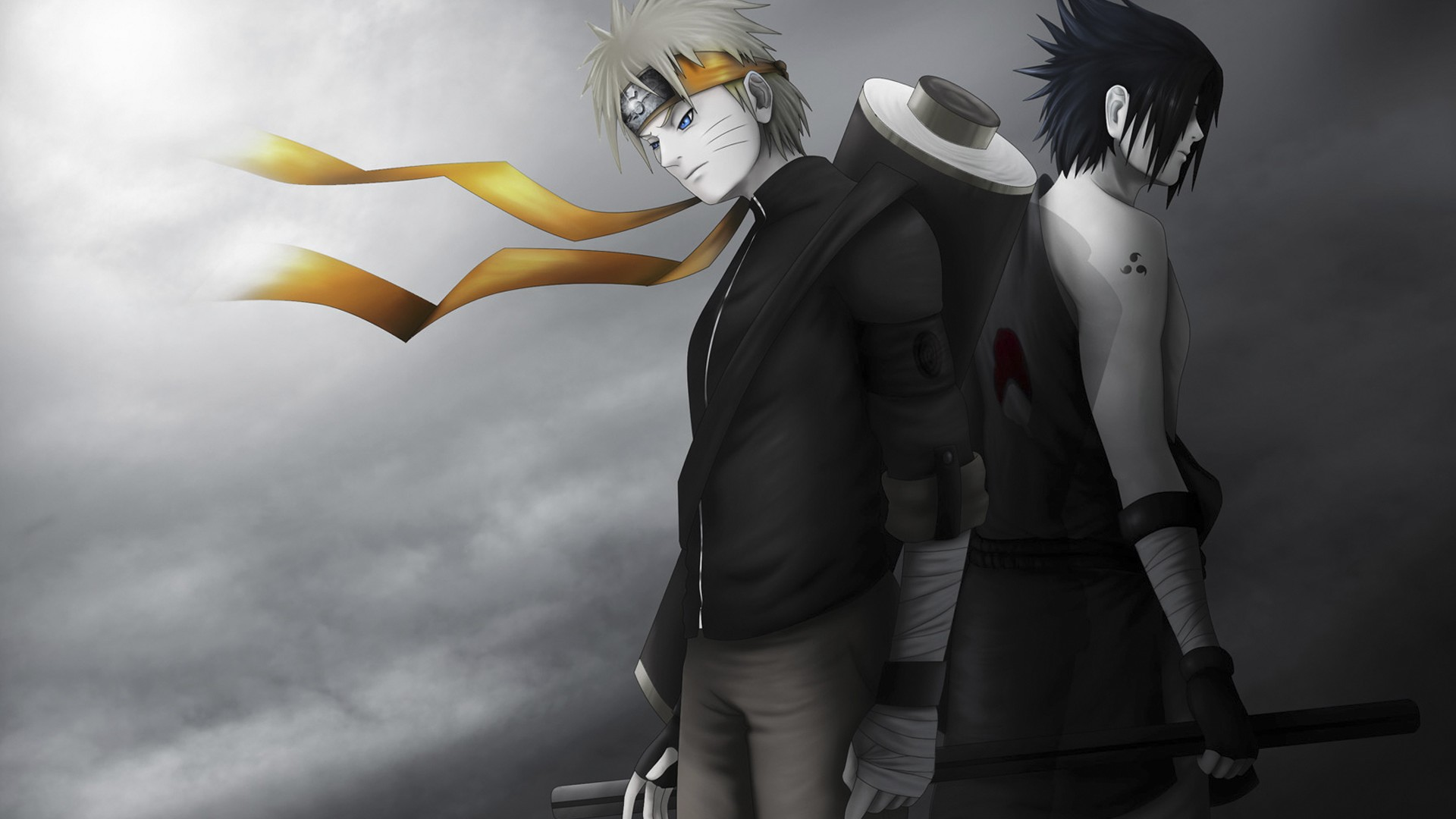 Hot Landscape Wallpaper Hd P Anime Wallpaper Free Hd - Naruto Uzumaki And Sasuke Uchiha - HD Wallpaper