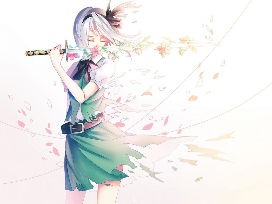 Anime Girl With Sword - Anime Girl With A Sword - HD Wallpaper