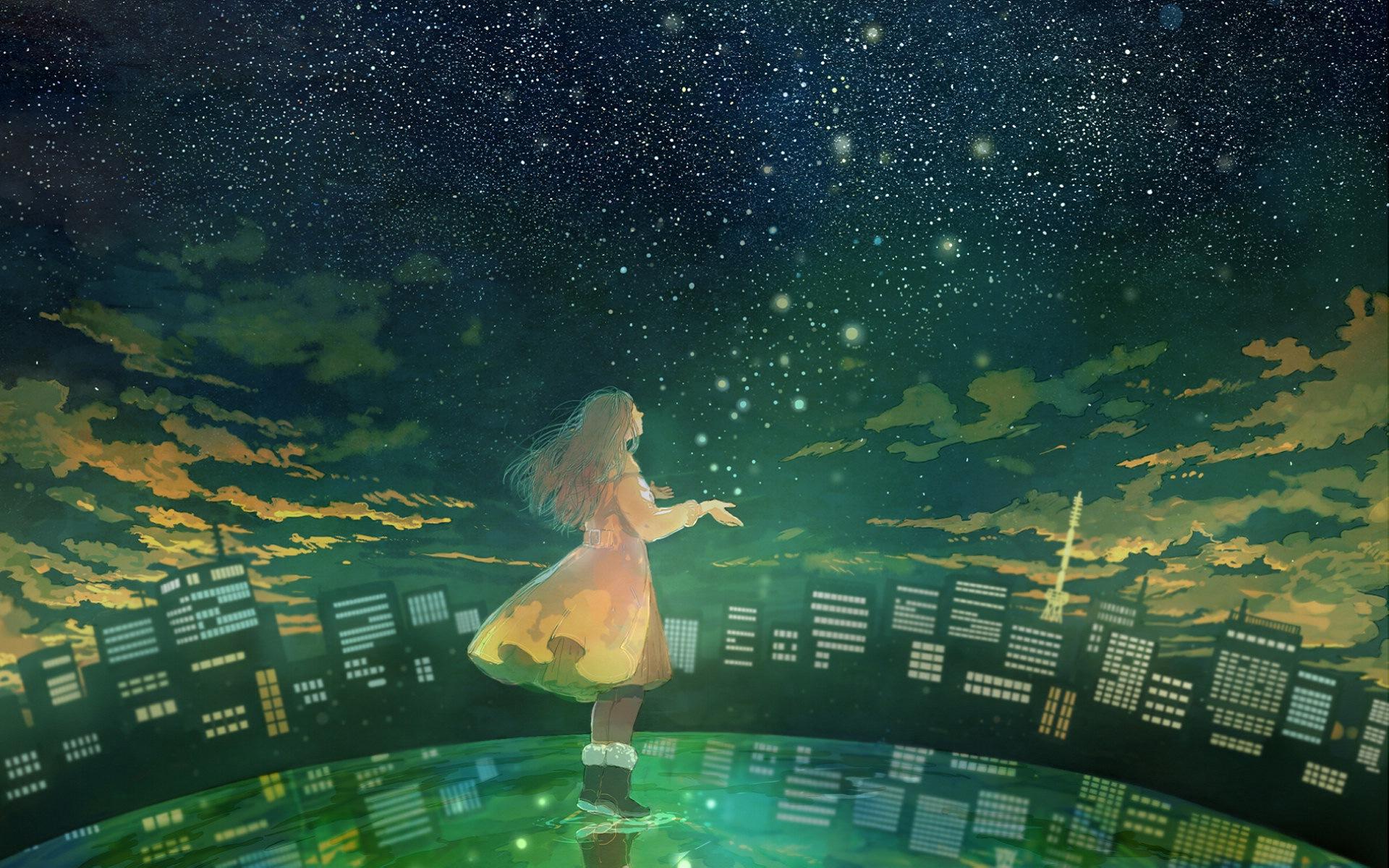 Firefly Summer Beautiful Anime Wallpaper Fireflies Wallpaper Anime 1920x1200 Wallpaper Teahub Io