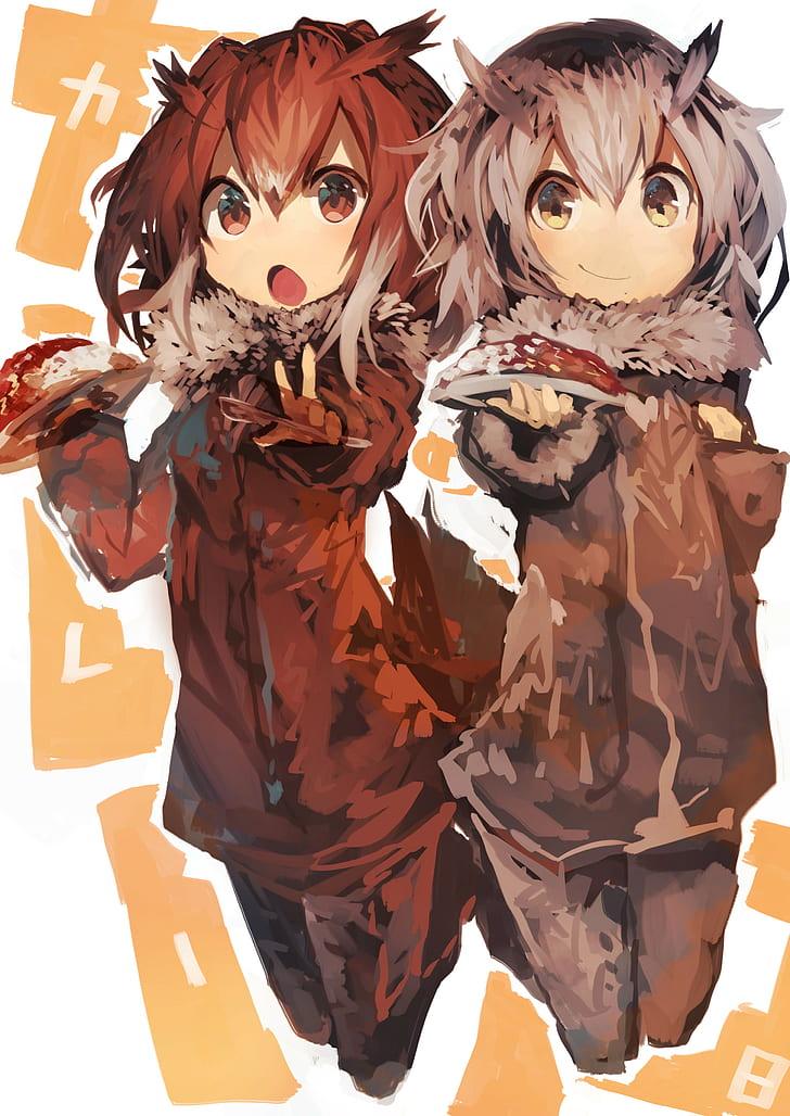 Anime, Anime Girls, Open Mouth, Redhead, Yellow Eyes, - Cartoon - HD Wallpaper