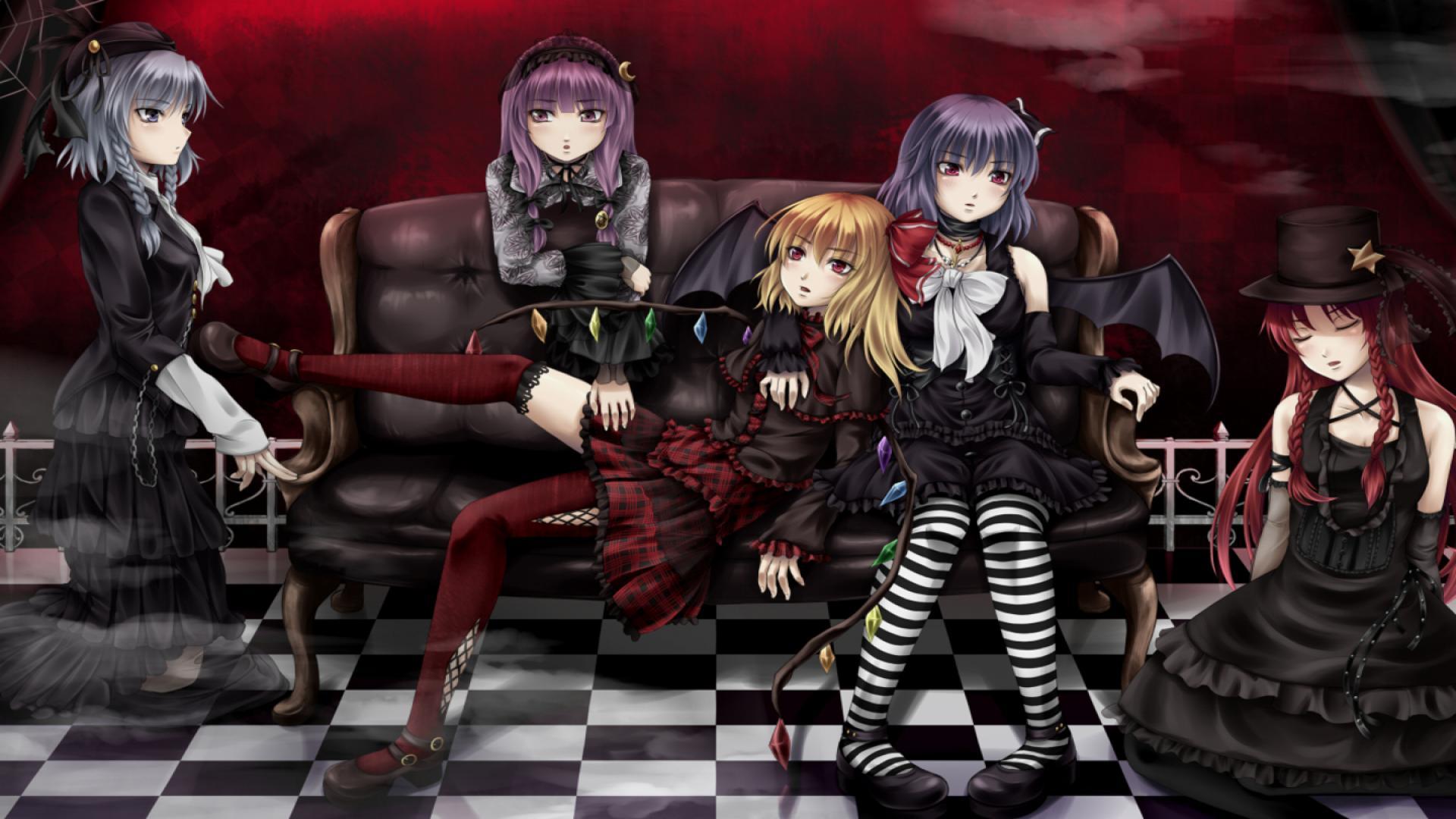 Cute Gothic Anime Girl - HD Wallpaper