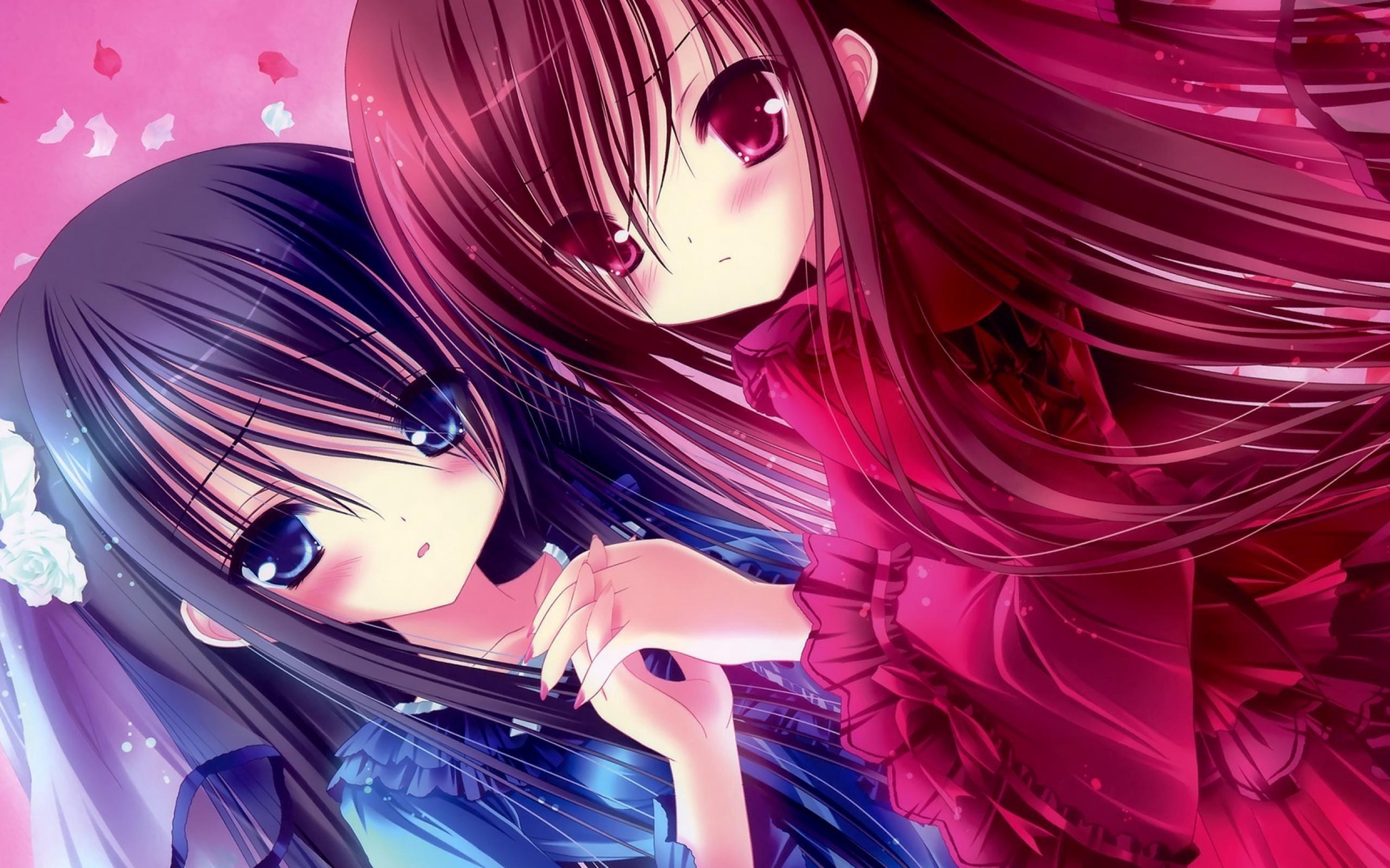 Wallpaper Kawaii, Anime, Girl, Friend, Person - Kawaii Anime Girls 3 - HD Wallpaper