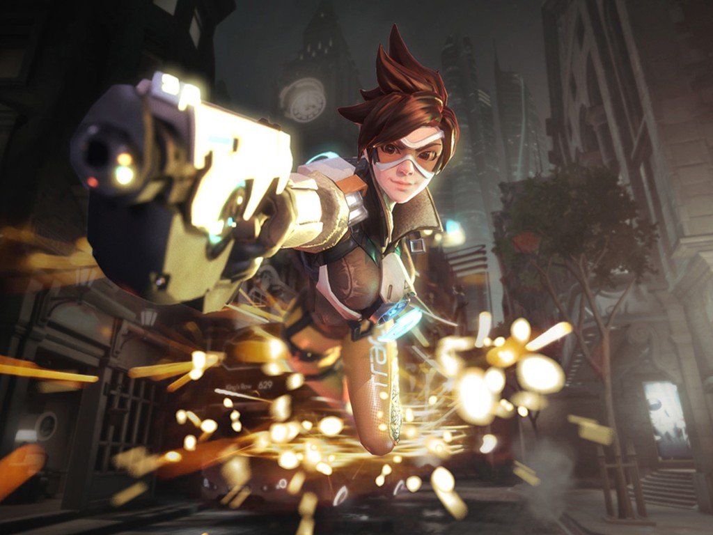 Games Wallpaper Overwatch Tracer Kings Row Overwatch Tracer 1024x768 Wallpaper Teahub Io