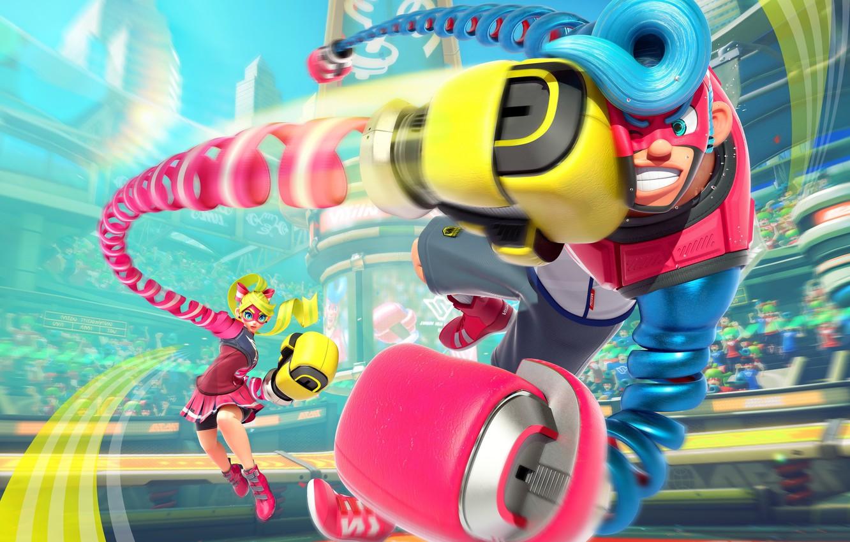 Photo Wallpaper Girl, Game, Robot, Mecha, Man, Fight, - Nintendo Switch Robot Fighting Game - HD Wallpaper