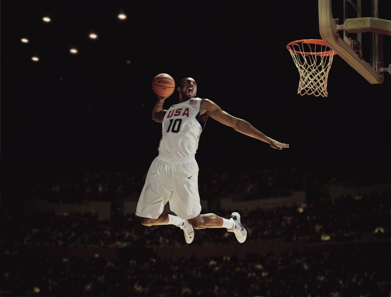 Kobe Bryant Wallpapers - Kobe Bryant Usa Dunk - HD Wallpaper