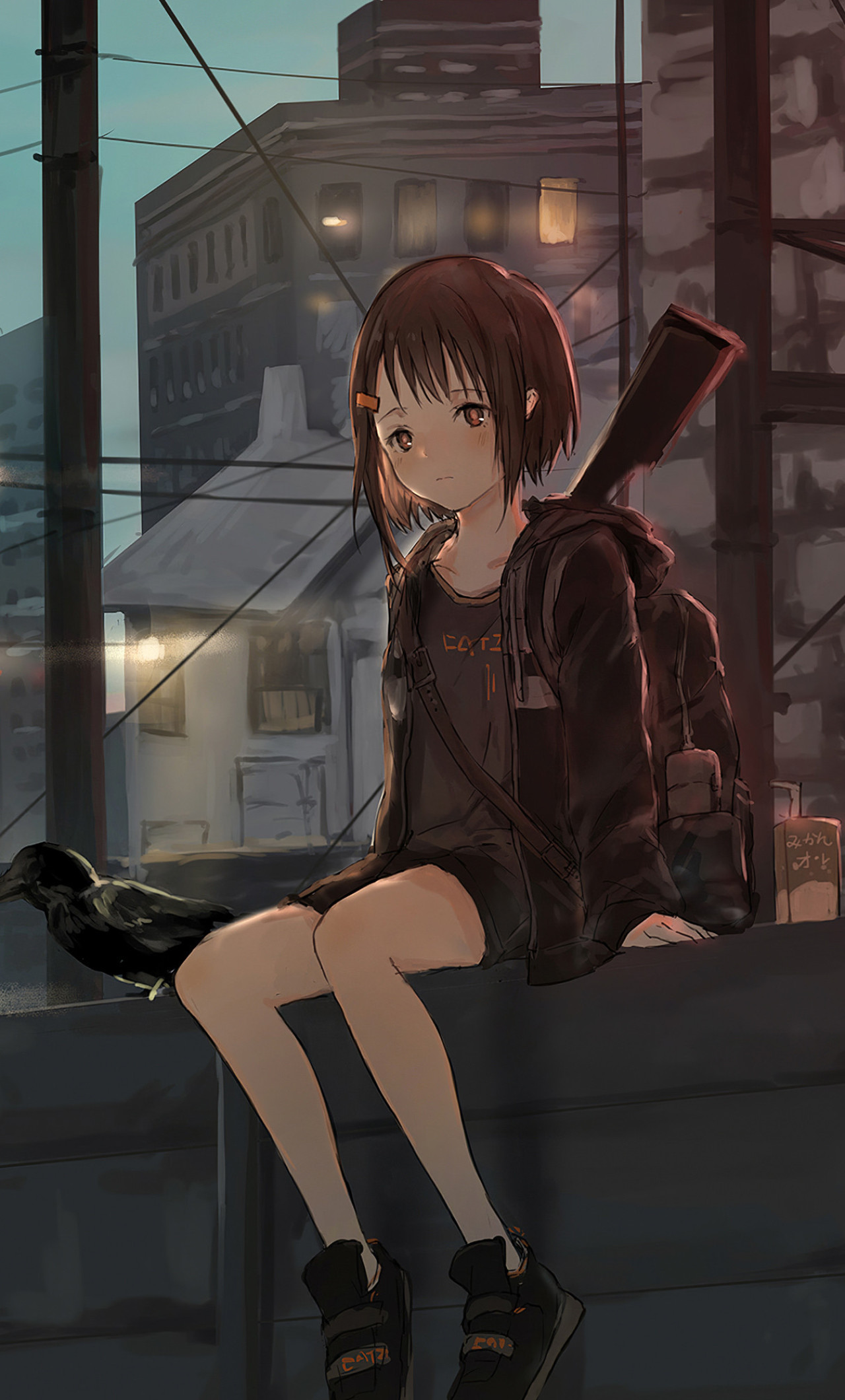 Alone Anime Girl Sad - 1280x2120 ...