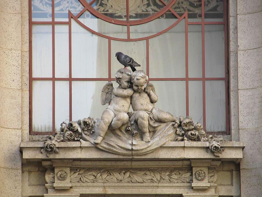 Cupids, Adolphus, Hotel, Dallas, Texas, Facade, Sculptures, - Romantic Sculpture Art - HD Wallpaper