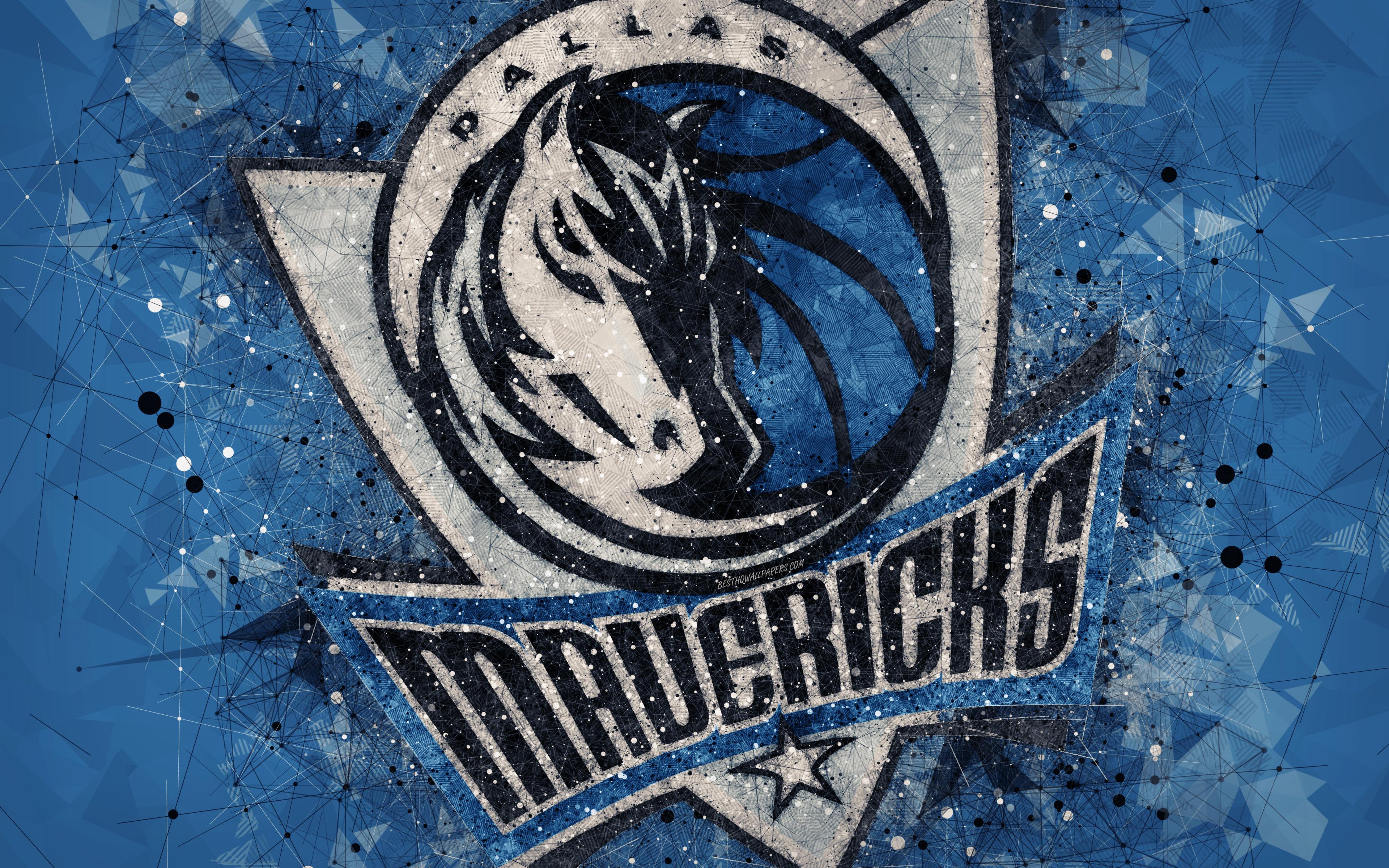 Dallas Mavericks, 4k, Creative Geometric Logo, American - Dallas Mavericks - HD Wallpaper