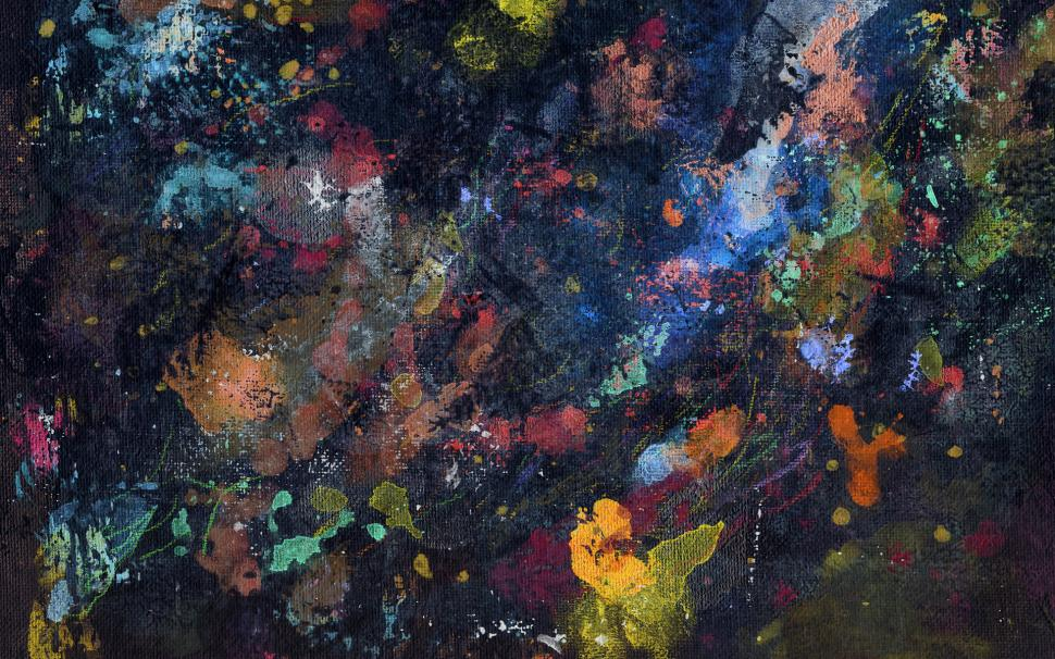 Painting Abstract Canvas Splatter Hd Wallpaper,abstract - Coolest Desktop - HD Wallpaper
