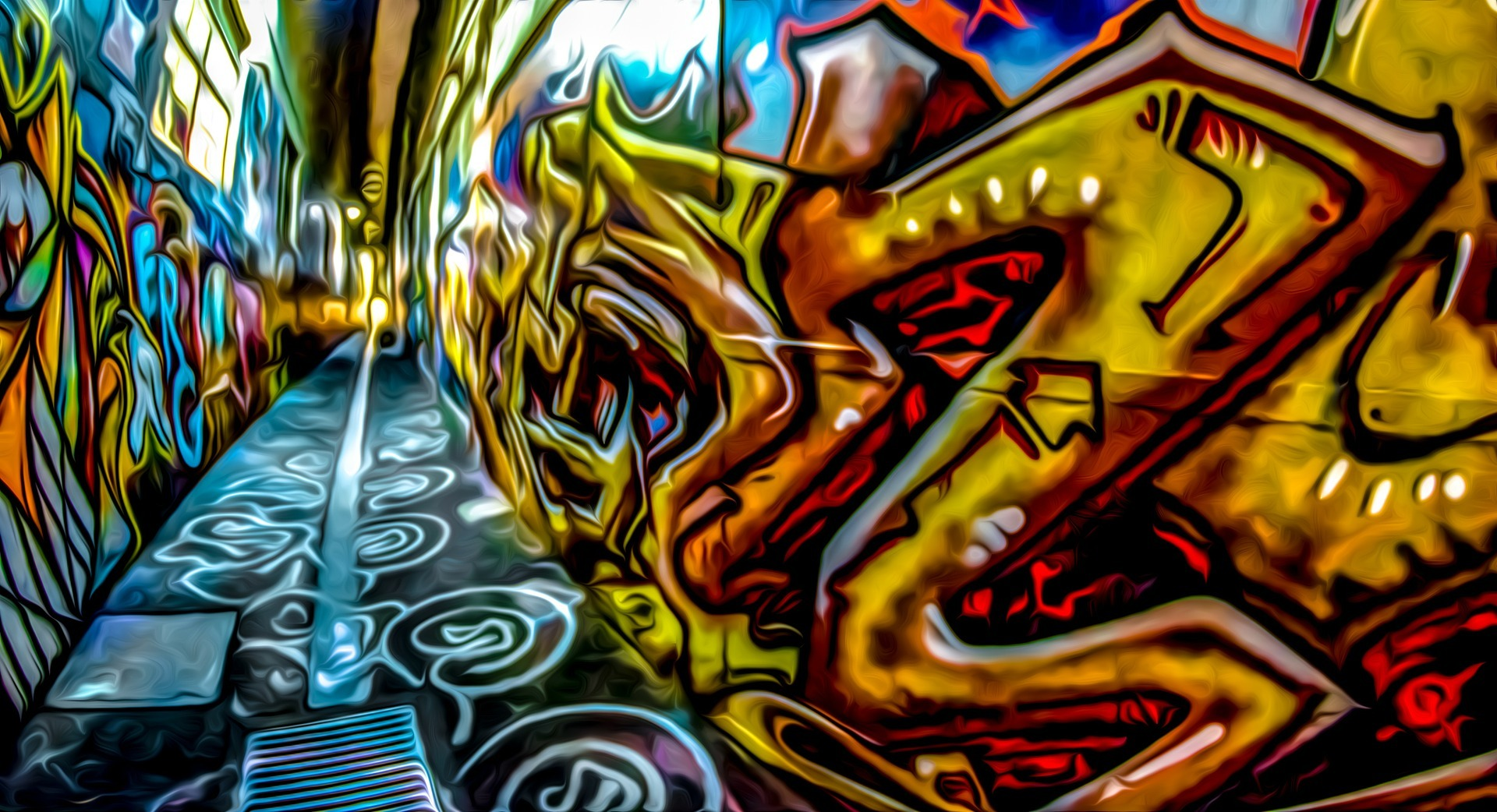 Street Wall Painting Wallpapers - Imagenes De Graffitis 4k - HD Wallpaper