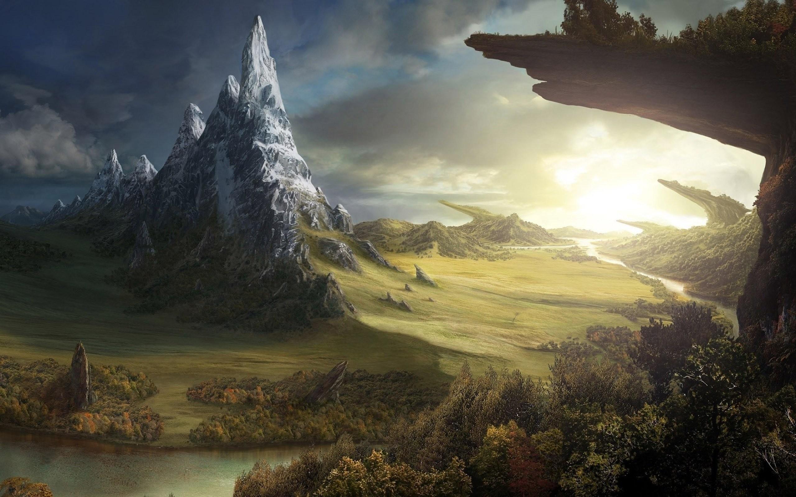Fantasy Wallpapers Landscape Art Artwork Nature   Data - Fantasy World Background - HD Wallpaper