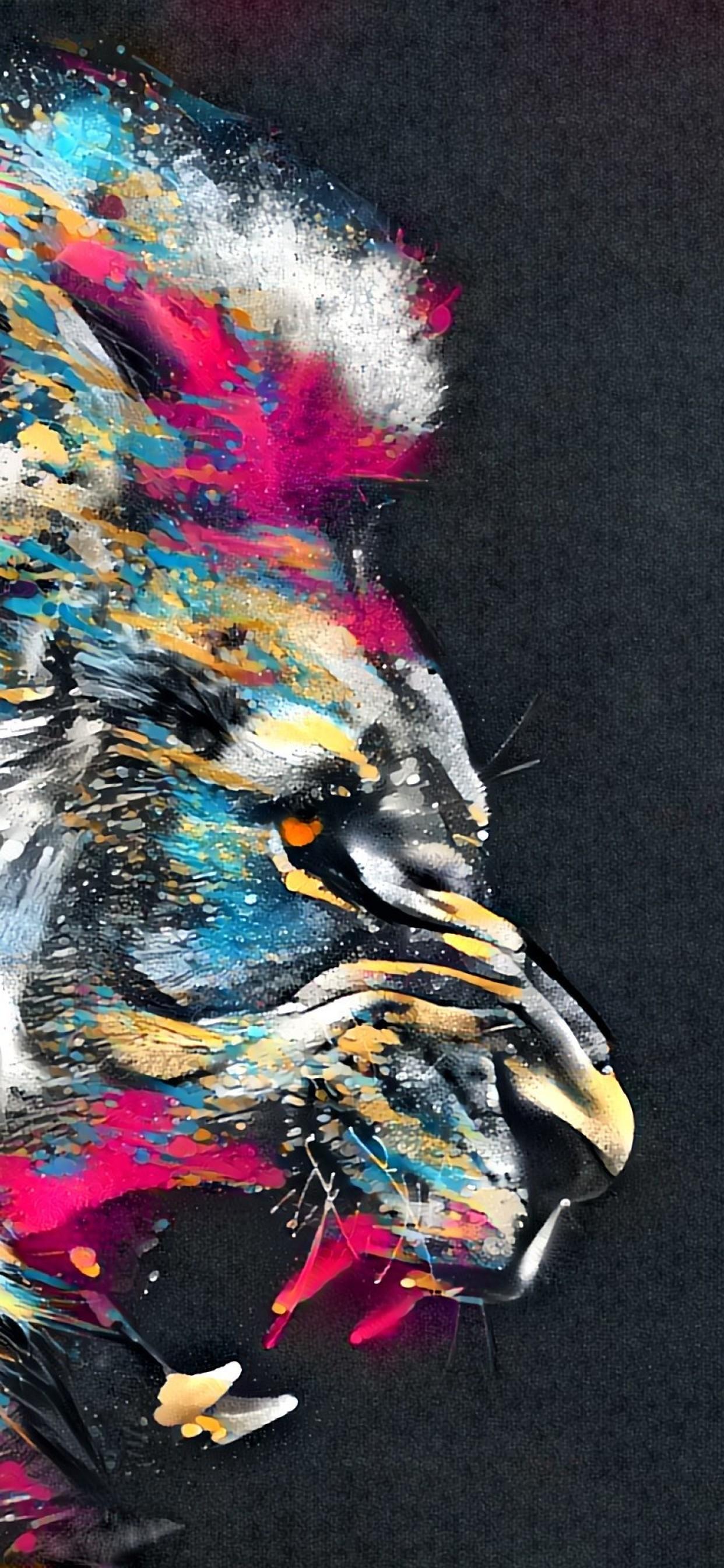 Lion Wallpaper Abstract - HD Wallpaper