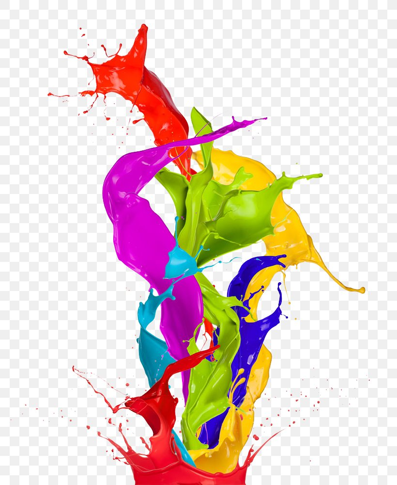 Paint Color Abstract Art Wallpaper, Png, 816x1000px, - Paint Abstract Png - HD Wallpaper