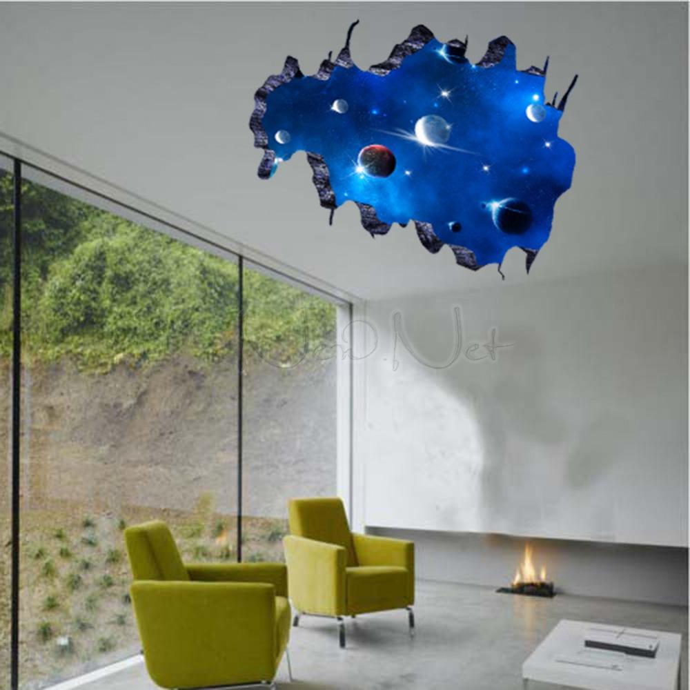 Modern Luxury Creative 3d Wallpaper Bedroom Living - 3d Wall Stickers Space Uk - HD Wallpaper