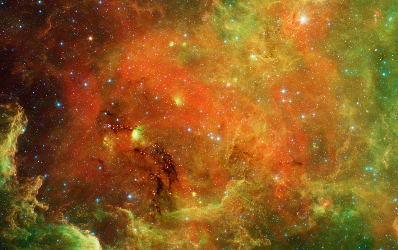 Space & Stars Orange Green Wallpapers - Green And Red Galaxy Background - HD Wallpaper