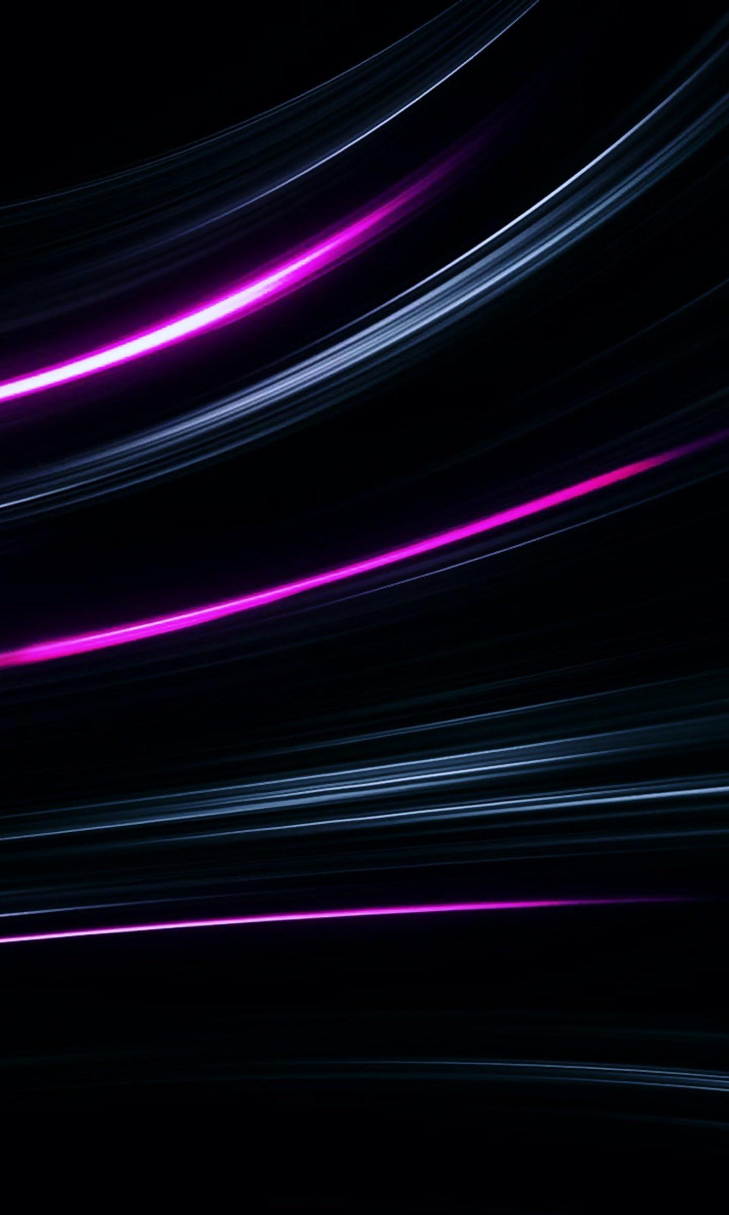 Neon Lines, Abstract, Glowing Lines, Wallpaper - Darkness - HD Wallpaper
