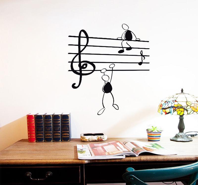 Wall Stickers Music Design - HD Wallpaper
