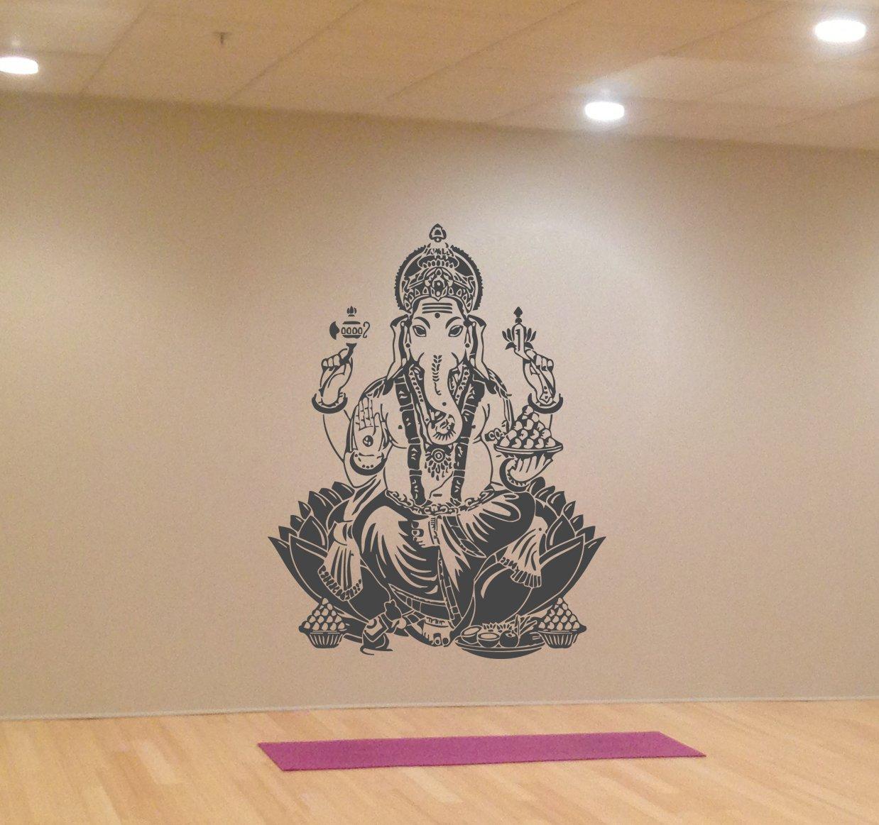 Ik417 Wall Decal Sticker Room Decor Wall Art Mural - Yoga And Indian God - HD Wallpaper