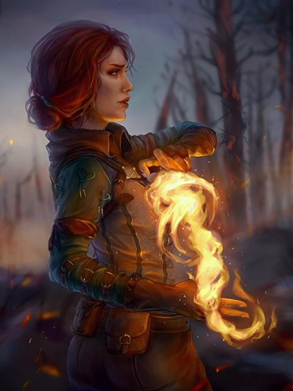Fantasy Art Human Female Wizard - HD Wallpaper
