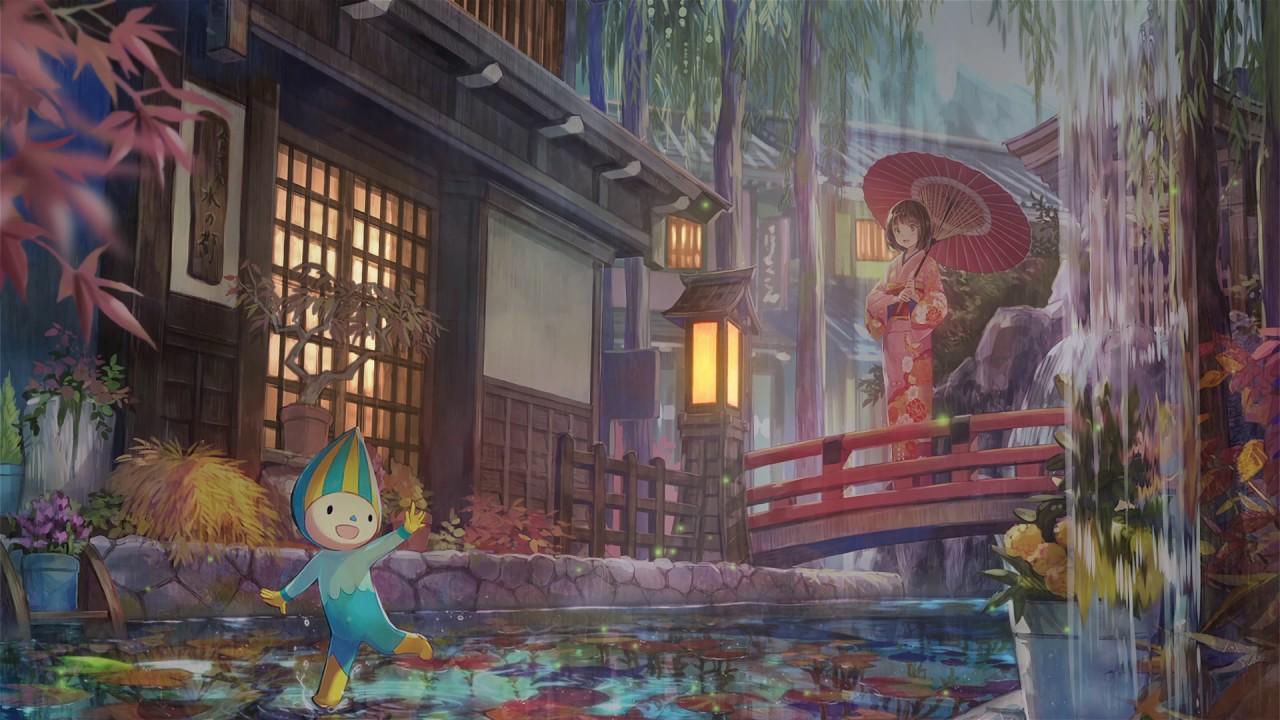 Kimono Traditional Japanese Anime Girl - HD Wallpaper