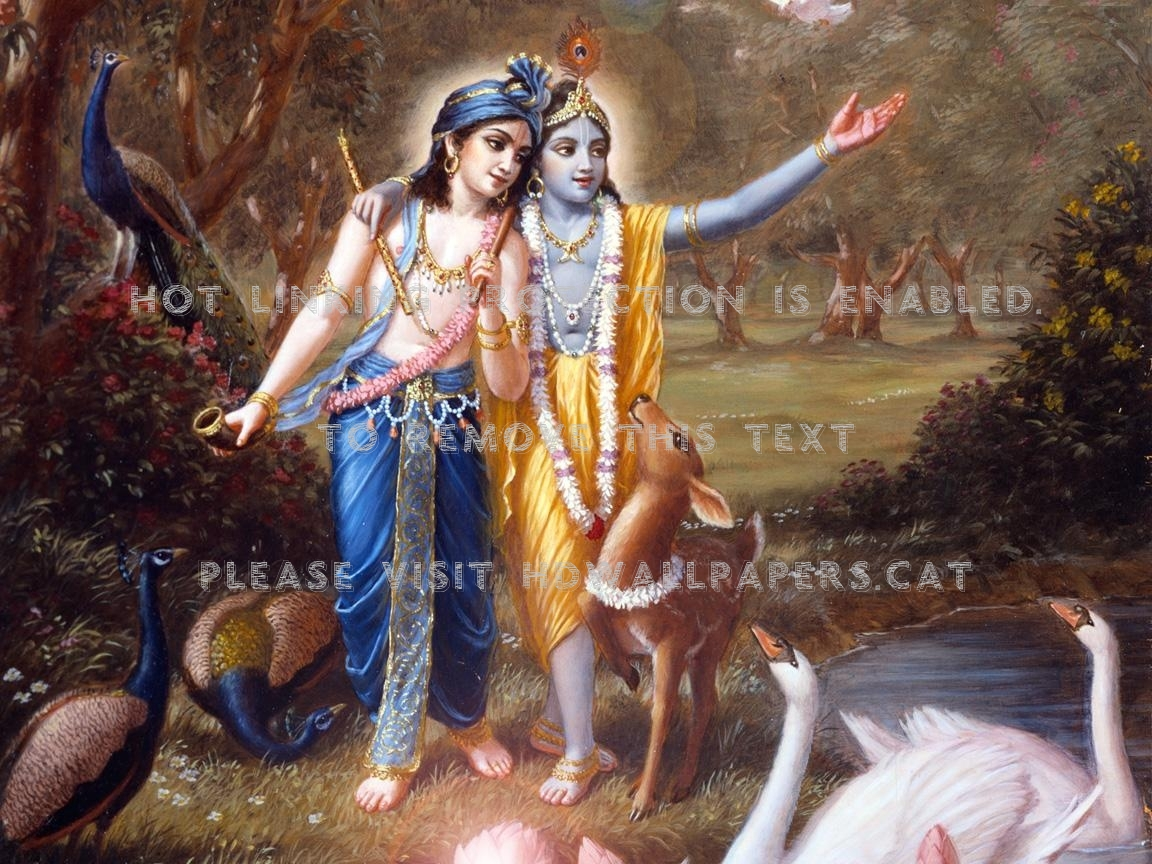 God5 Kanhaji Shri Krishna Lord Nature - Lord Krishna And Balaram - HD Wallpaper